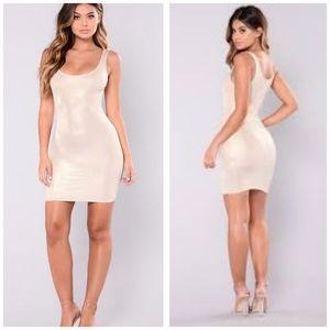 Fashion Nova Dulce Foil dress